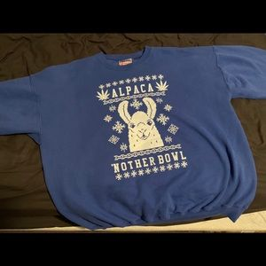 """""""Alpaca 'Nother Bowl"""" Ugly Christmas Sweater"""
